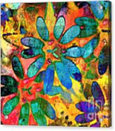 Colorful Floral Abstract IIi Acrylic Print