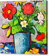 Colorful Flowers From My Garden Acrylic Print