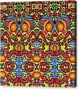 Colorful Folklore Pattern Acrylic Print