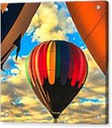 Colorful Framed Hot Air Balloon Acrylic Print by Robert Bales