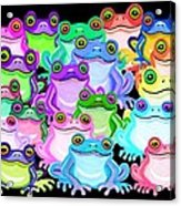 Colorful Frogs Acrylic Print