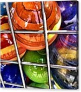 Colorful Glass Balls Acrylic Print
