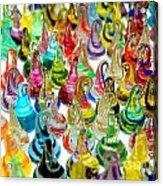 Colorful Glass Drops Acrylic Print