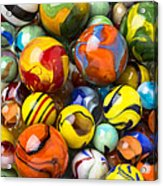 Colorful Glass Marbles Acrylic Print