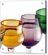 Colorful Glasses In A Row Acrylic Print