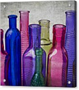 Colorful Group Of Bottles Acrylic Print