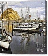 Colorful Harbor II Impasto Acrylic Print