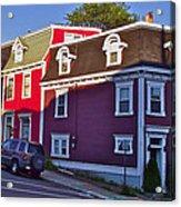 Colorful Homes In Saint John's-nl Acrylic Print