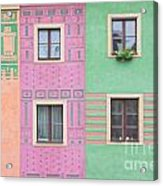 Colorful Houses Acrylic Print