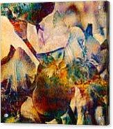 Colorful Iris Watercolor Acrylic Print