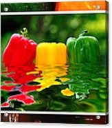 Colorful Kitchen Collage Acrylic Print