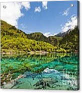 Colorful Lake At Jiuzhaigou China Acrylic Print