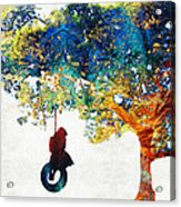 Colorful Landscape Art - The Dreaming Tree - By Sharon Cummings Acrylic Print