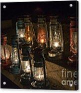 Colorful Lanterns At Night Acrylic Print
