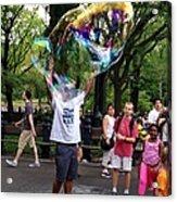 Colorful Large Bubbles Acrylic Print