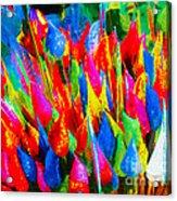 Colorful Leafs Acrylic Print