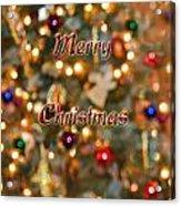 Colorful Lights Christmas Card Acrylic Print
