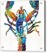 Colorful Lobster Art By Sharon Cummings Acrylic Print