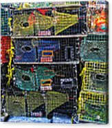 Colorful Lobster Traps Acrylic Print