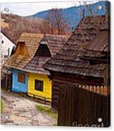 Colorful Log Homes Acrylic Print