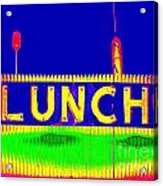 Colorful Lunch Acrylic Print