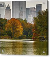 Colorful Magic In Central Park New York City Skyline Acrylic Print by Silvio Ligutti