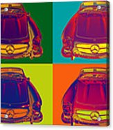 Colorful Mercedes Benz 300 Sl Convertible Popart Acrylic Print