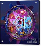 Colorful Metallic Orb Acrylic Print