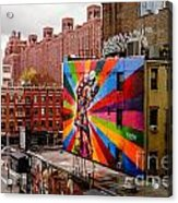 Colorful Mural Chelsea New York City Acrylic Print