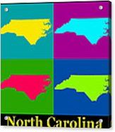 Colorful North Carolina Pop Art Map Acrylic Print