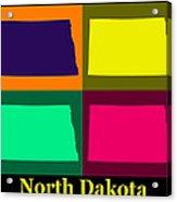 Colorful North Dakota Pop Art Map Acrylic Print