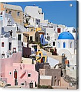 Colorful  Oia Acrylic Print