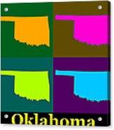 Colorful Oklahoma State Pop Art Map Acrylic Print