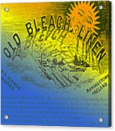 Colorful Old Bleach Linen Ad Acrylic Print