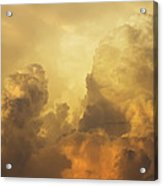 Colorful Orange Yellow Storm Clouds At Sunset  Acrylic Print