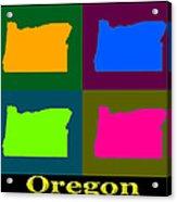 Colorful Oregon Pop Art Map Acrylic Print