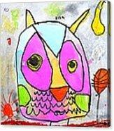 colorful Owl Acrylic Print