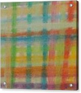 Colorful Plaid Acrylic Print