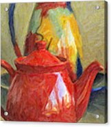 Colorful Pottery Acrylic Print by Kenny Francis