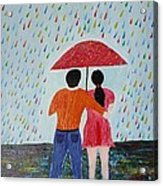 Colorful Rain Acrylic Print
