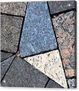 Colorful Rock Pavers Acrylic Print
