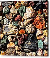 Colorful Rock Wall With Border Acrylic Print