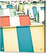 Colorful Roofs Acrylic Print