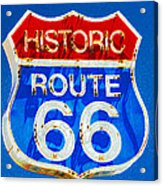 Colorful Route 66 Acrylic Print
