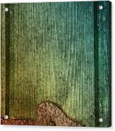 Colorful Rusted Metal Heart Wood Door Hinge Acrylic Print
