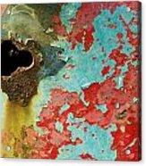 Colorful Rusty Door Acrylic Print