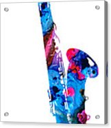Colorful Saxophone 2 By Sharon Cummings Acrylic Print
