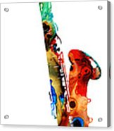 Colorful Saxophone By Sharon Cummings Acrylic Print