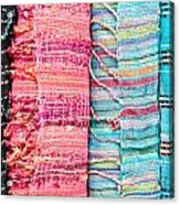 Colorful Scarves Acrylic Print