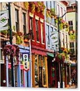 Colorful Shops Acrylic Print